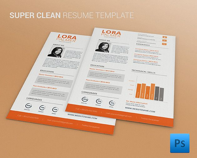 442 Best Resume Template Images On Pinterest | Resume Templates