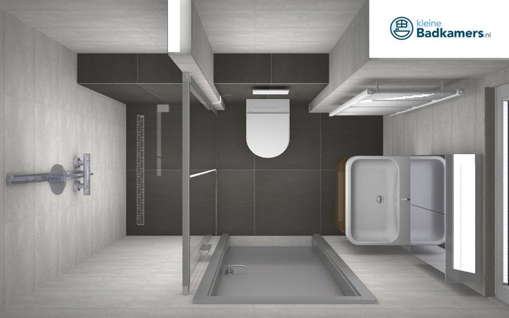 Deze badkamer heeft een afmeting van 2,34 x 1,40 meter. Een compacte badkamer maar wel heel praktisch ingericht! Er is voldoende bewegingsvrijheid rondom het badkamermeubel en het toilet. Zeker de schuifdeuren van de douche, die geen ruimte opeisen. Daarnaast is dit badkamermeubel voorzien van handige opbergruimte! En kijk ook even naar het inbouwreservoir dat mooi…