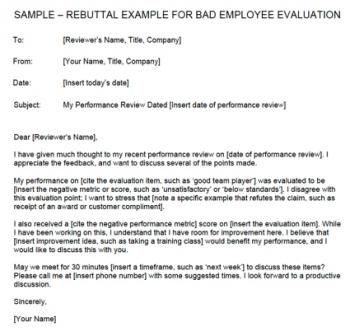 Sample Disagreement Letter To Employer For Performance