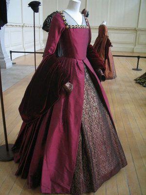 Mary Boleyn's Red Velvet Gown