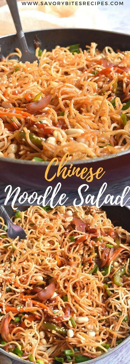 A great street food / comforting meal for all - it's Chinese Noodle Salad / Chinese Bhel! Combination of noodles,vegetables and top...