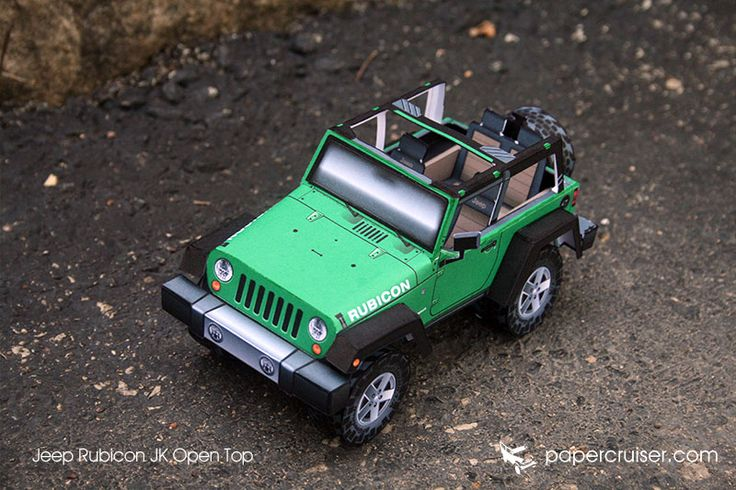 Jeep JK Rubicon Open Top paper model | papercruiser.com