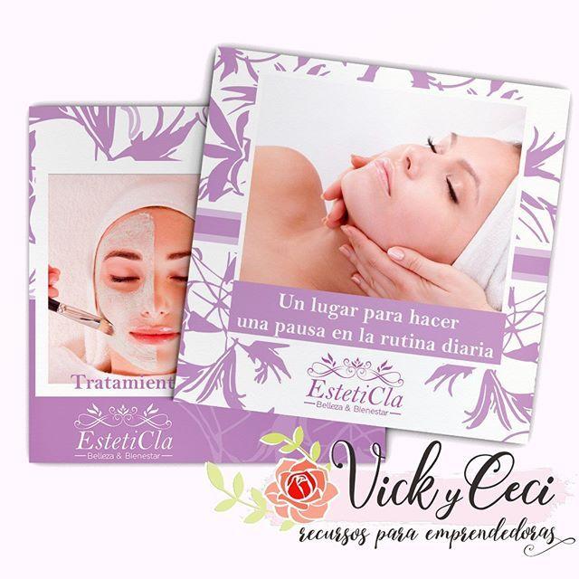 Diseño de tarjeta personal para estética, cosmetóloga ...