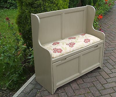 Wooden Monks Bench Shabby Chic With Storage