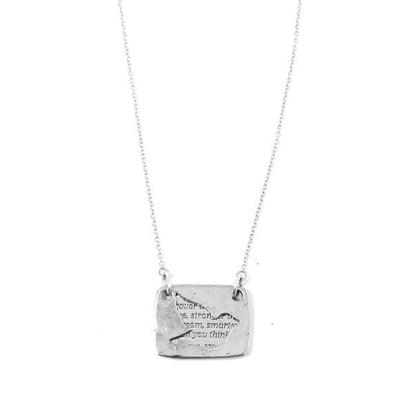 Bird Necklace in Silver - High quality pewter plated in Sterling Silver - Ethically and responsibly made in     Toronto,  Ontario, Canada