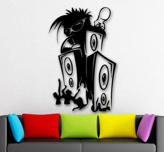Wall Stickers Vinyl Decal DJ Music Nightclub Party Loudspeaker Enclosure (ig1759)