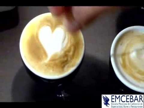 Café para ésta mañana... Corazon Con Arte Latte - Tutorial - YouTube