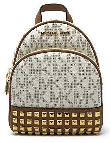 e5c283e3b982 Michael Michael Kors Abbey Extra-Small Signature Studded Backpack  Vanilla/Acorn Review