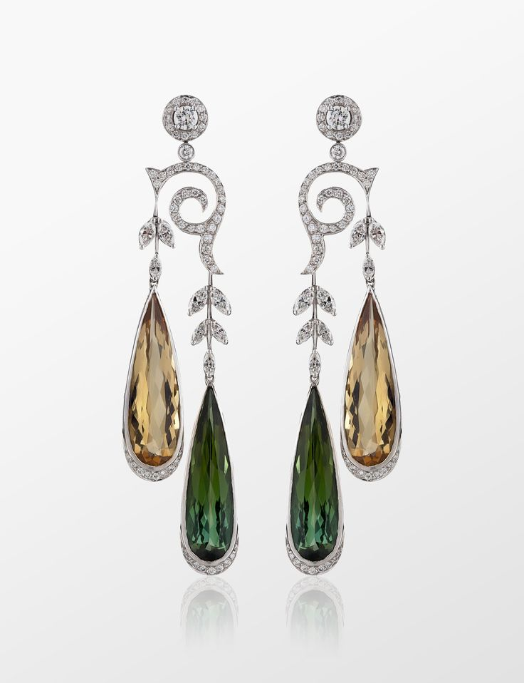 MOLU | TOURMALINE BERYL BICOLOR EARRINGS | KP-2776 | ALWAYSFASHION.COM
