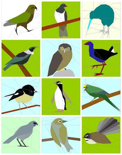 12 NZ birds by Tartankiwi