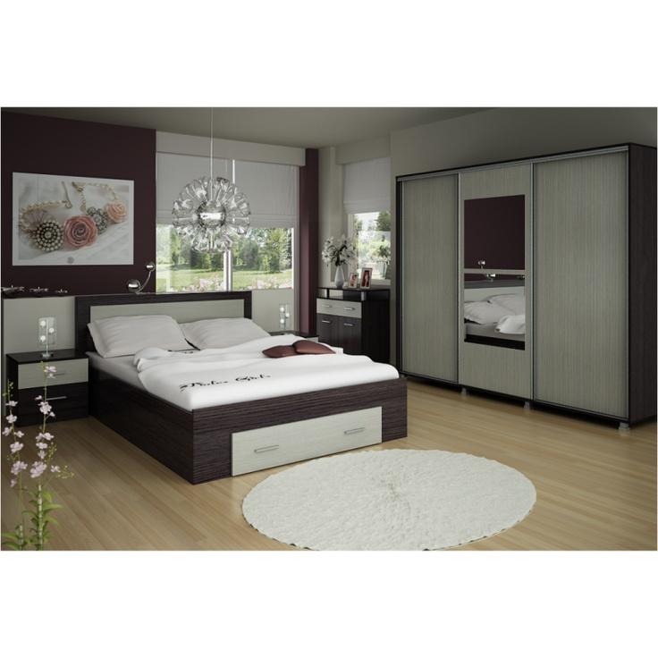 Mobila Dormitor PRIMAVERA 3 usi culisante 140cm - Tamos