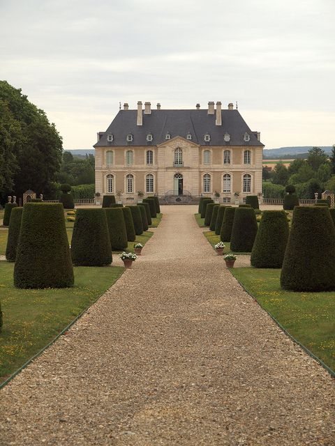 Chateau Vendeuvre, Normandy, France Is a great example of a country house (maison de campagne) of the eighteenth century