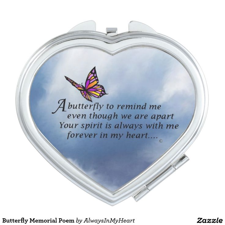 Butterfly Memorial Poem Compact Mirror