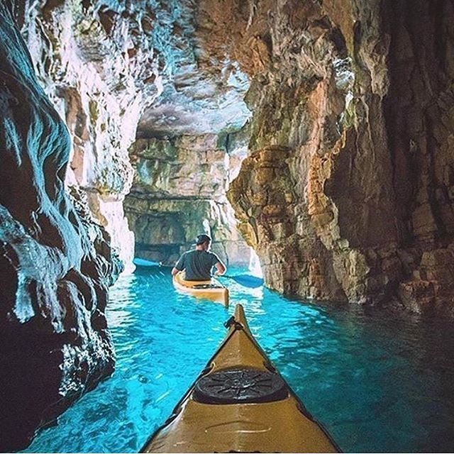 Kayaking through caves Tag who you'd do this with! @ablazeaway -- © Unknown