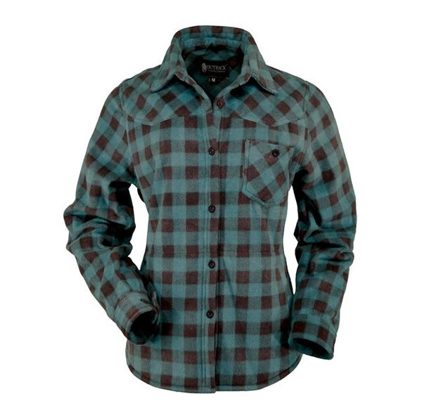 This Soft fleece Big Shirt boasts western yokes, hip pockets and adjustable cuffs and will soon become your favorite piece of clothing.