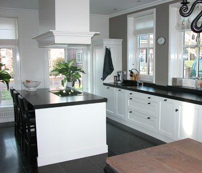 Landelijke maar ook strakke keuken met kookeiland afzuigkap is wel mooi en landelijk keuken - Keuken met kookeiland table ...