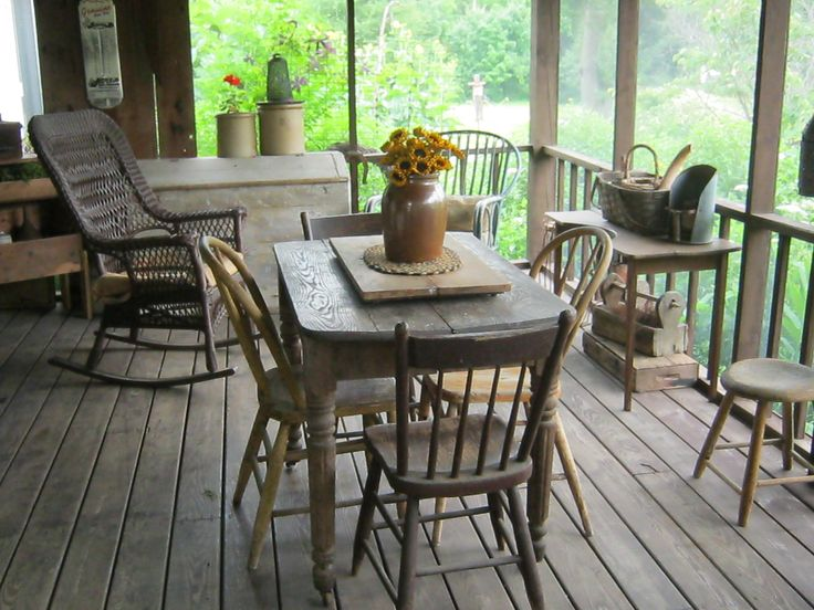 2014 earlenes prim porch 0n the porch pinterest porches for Country porch catalog