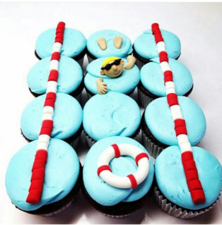 Best 25+ Swimming Cupcakes Ideas On Pinterest