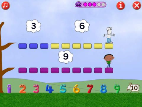 Numberjacks - Addition Facts up to 10 by Pete Crawford