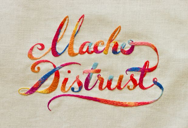Embroidered typography by Maricor Maricar