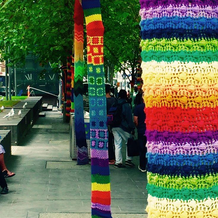 Yarn Bombing in Melbourne