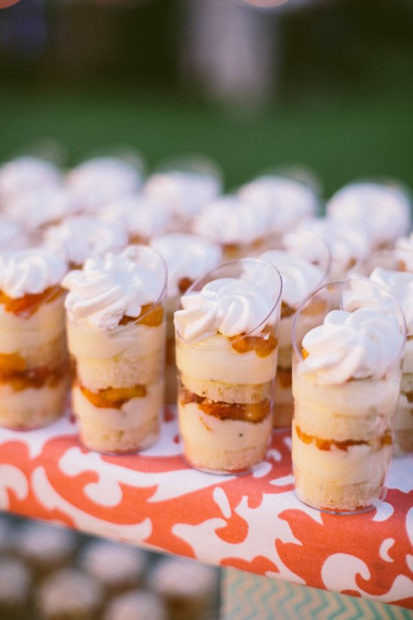 individual dessert cups // photo by Caroline Ghetes // http://ruffledblog.com/colorful-sonoma-valley-wedding