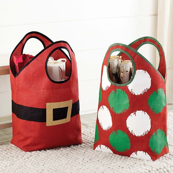Holiday Jute Totes