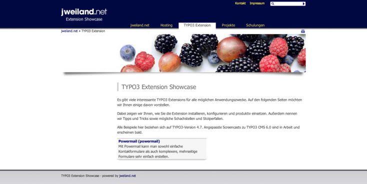 TYPO3 Extension Showcase