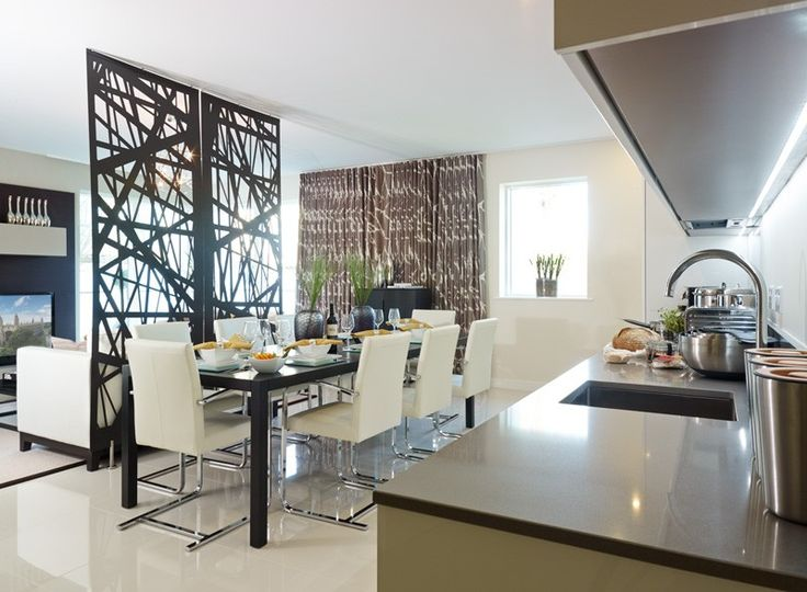 The Stylish Divider Perfectly Separates The Kitchen/dining Room From The  Living Room And Provides An ...