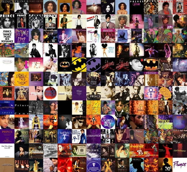 Prince Album Collage Dig If U Will The Picture