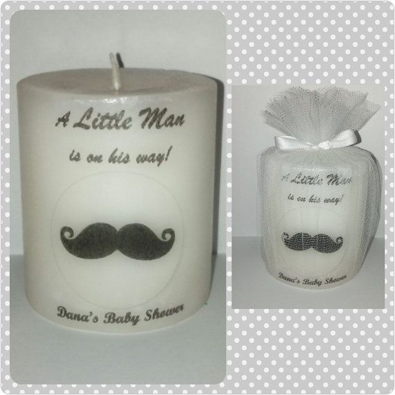 mustache baby shower favors decorations by SassyCandleFavors