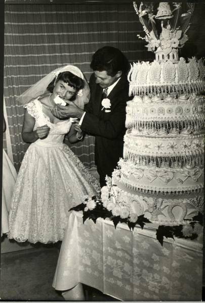 Eddie Fisher & Debbie Reynolds Wedding Day.