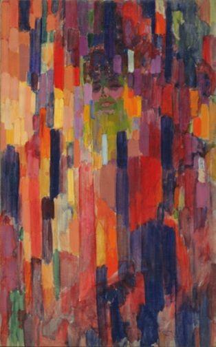 """""""Mme Kupka parmi les verticales"""", 1911, 133 x 84 cm.  Museo de arte moderno, New York."""