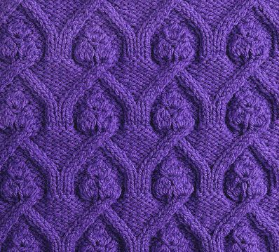 Cathedral cable knitting stitch