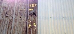 Metal Wall or Roof Panels Corrode - FRP Fiberglass Roof and Wall Panels Resist Corrosion MUCH Longer