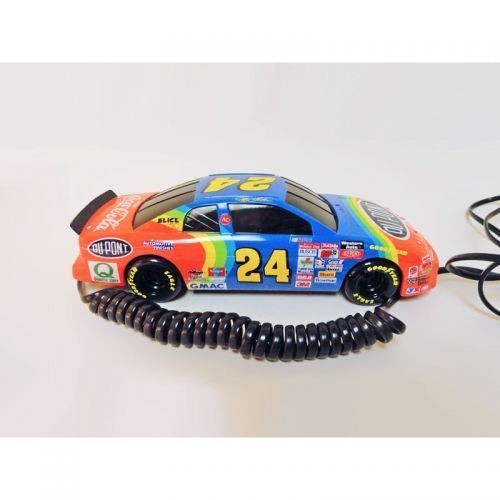 Nascar 1996 collectible vintage working Jeff Gordon No. 24 stock car telephone with flashing head lights in original box:  For Sale if still available