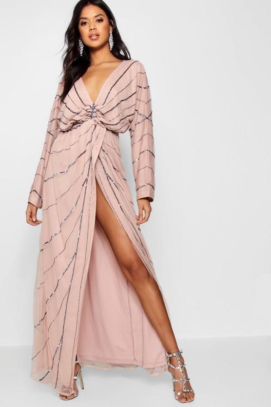 60f6f44788e6 Boutique Mol Batwing Embellished Maxi Dress   Boohoo   WildChild ...