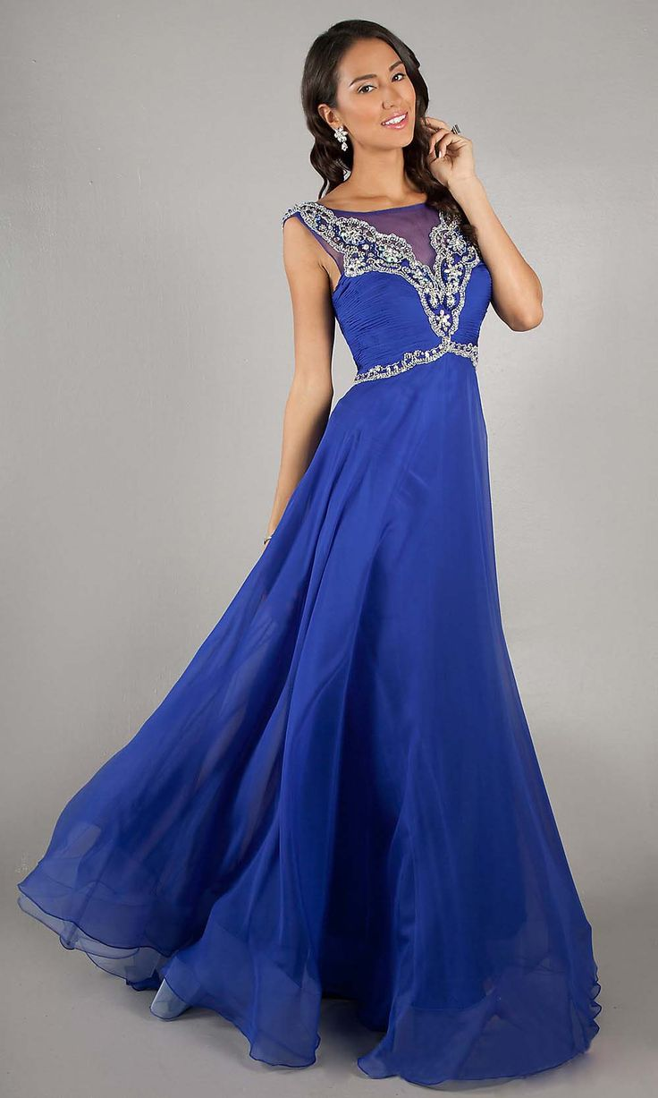 Tarik Ediz Evening Dresses 2015 Backless Royal Blue Gold Bow Beading