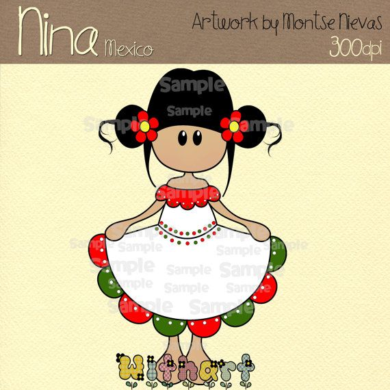 México Nina dolls 0265 digital clip art set images for by Withart, $2.99