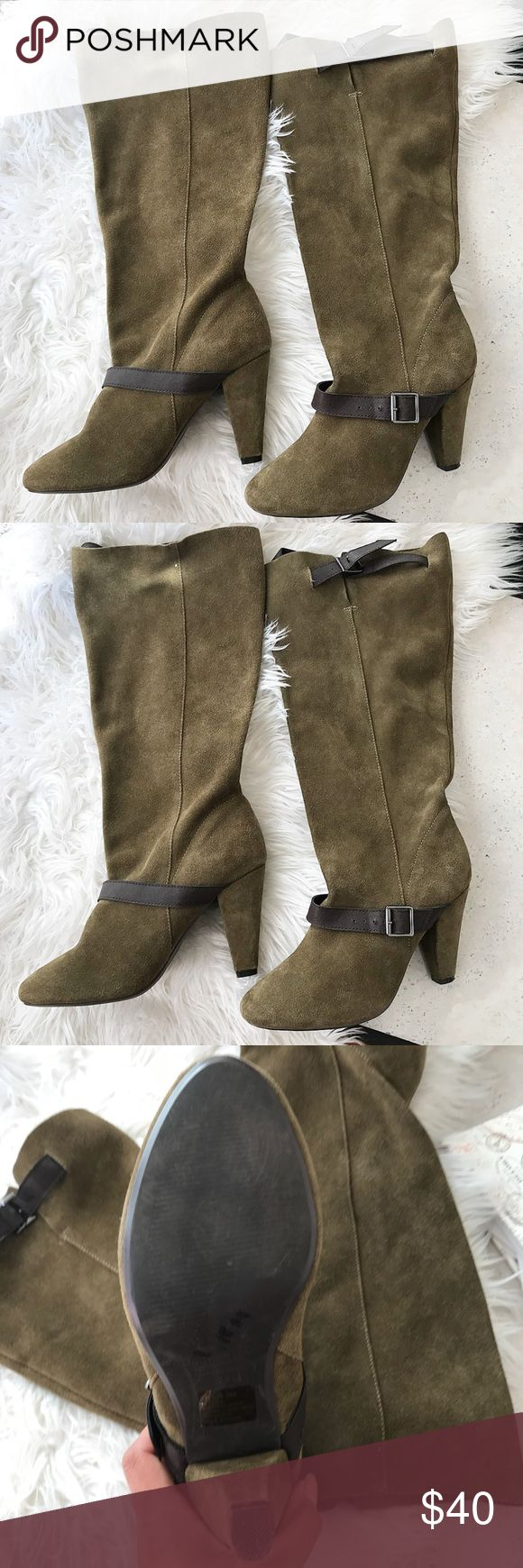Colin Stuart high knee boots Colin Stuart high knee army green boots , in good condition same day shipping ,offers are welcome. Last pic is only for inspiration• Colin Stuart Shoes Over the Knee Boots