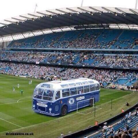 #Chelsea's Bus Unusually Unreliable at The #Etihad Last Night #DoubleDecker