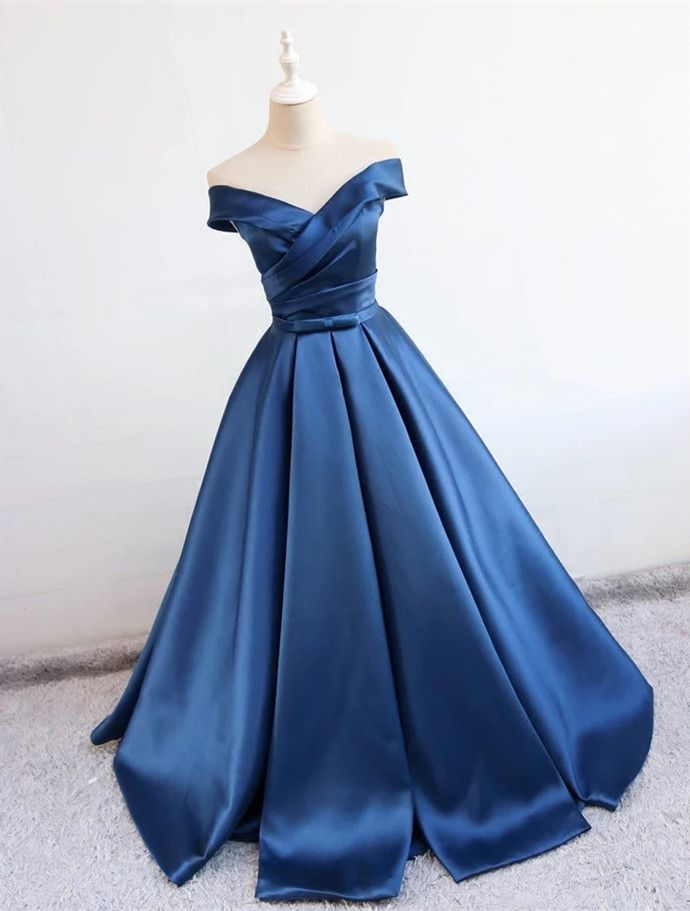 b31722e106 off the shoulder prom dress, v neck evening gowns,ball gowns evening dresses  by lass, $139.50 USD
