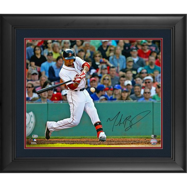 """Mookie Betts Boston Red Sox Fanatics Authentic Framed Autographed 16"""" x 20"""" Horizontal Hitting Photograph - $249.99"""