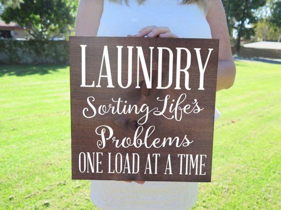 Laundry Sorting Life's Problems Laundry Room Decor by ElegantSigns