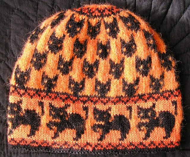 witch cats hat by christine de savoie via ravelry free download knitting patterns freeknitting hatsknitting - Free Halloween Knitting Patterns