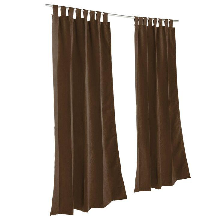 Pawleys Island Sunbrella Curtain - Canvas Bay Brown (120 Inches) (Fabric, Solid), Outdoor Décor