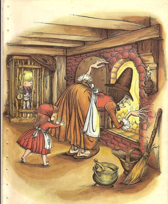Hansel and Gretel (1962) (https://www.etsy.com/listing/124262486/two-pages-from-joan-walsh-anglund-book?image_id=429942991)