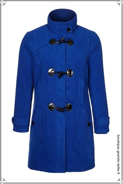 Duffle Coat Bleu Flashy Article Lumineux Pour L 39 Hiver Manteaux Femme Ronde Pinterest
