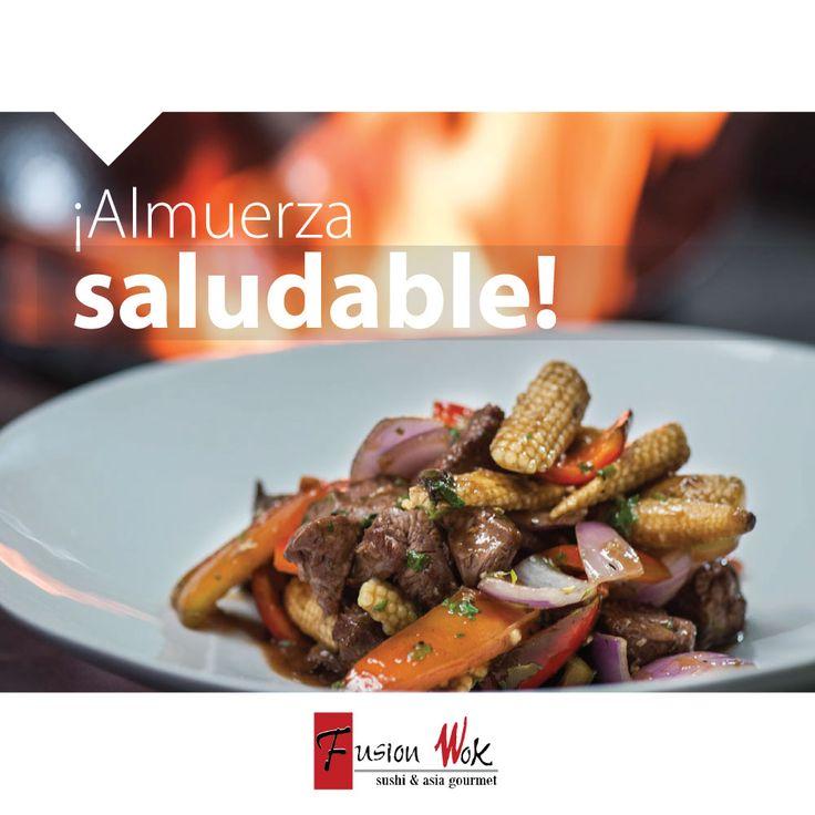 ¡Domingo para almorzar saludable al mejor estilo @FUSIONWOK! Ingresa a nuestra página web y escoge tú plato favorito --->www.fusionwok.com.co