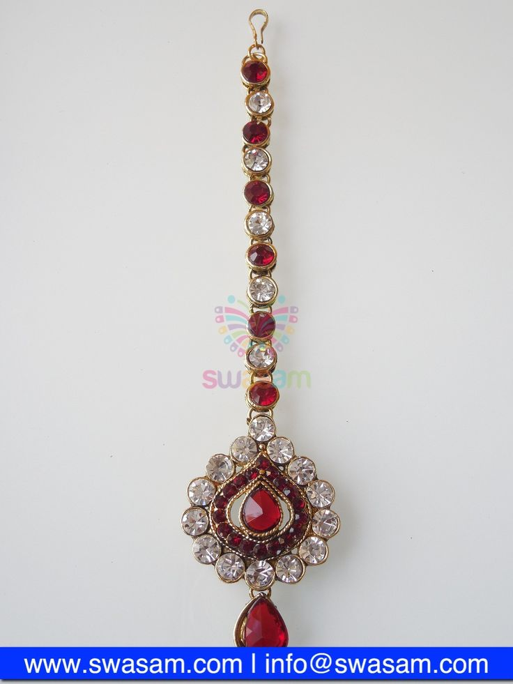 Indian Jewelry Store | Swasam.com: Tikka with Perls and White Stones - Tikka - Jewelry Shop to Buy The Best Indian Jewelry  http://www.swasam.com/jewelry/tikka/tikka-with-perls-and-white-stones-1309.html?___SID=U  #indianjewelry #indian #jewelry #tikka